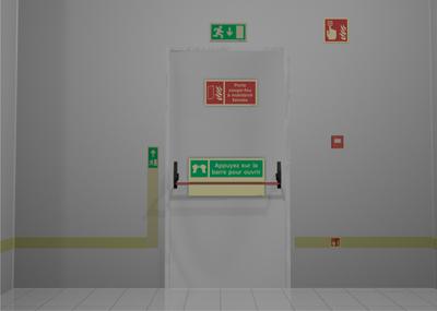 Portes coupe feu comment les signaliser sinalux for Dimension porte coupe feu